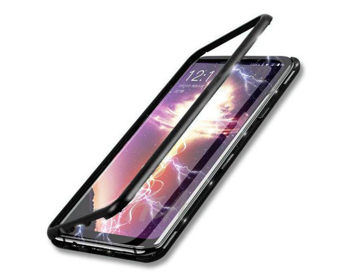 Magneto Bumper Case - Μαγνητική Θήκη Clear / Black (Samsung Galaxy A71)