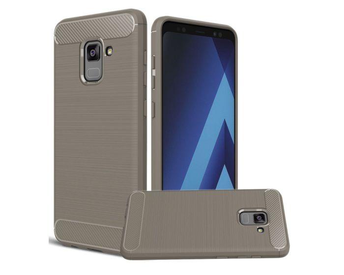 TPU Carbon Rugged Armor Case - Grey (Samsung Galaxy A8 2018)