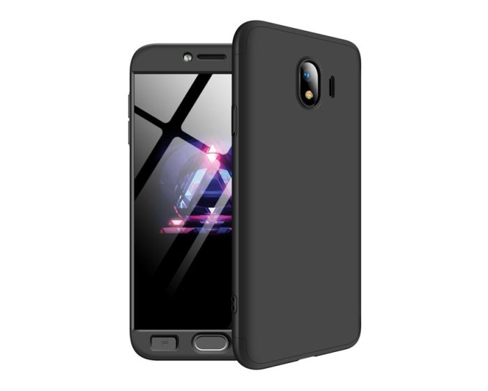 360 Full Cover Case & Tempered Glass - Black (Samsung Galaxy J4 2018)