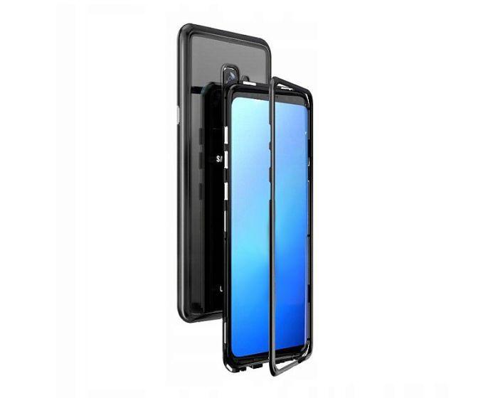 Magneto Bumper Case - Μαγνητική Θήκη Clear / Black (Samsung Galaxy J4 Plus 2018)