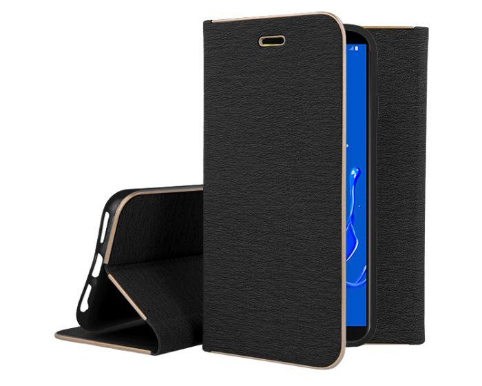 Vennus Book Case με Δυνατότητα Stand - Θήκη Πορτοφόλι Μαύρη (Samsung Galaxy J8 2018)