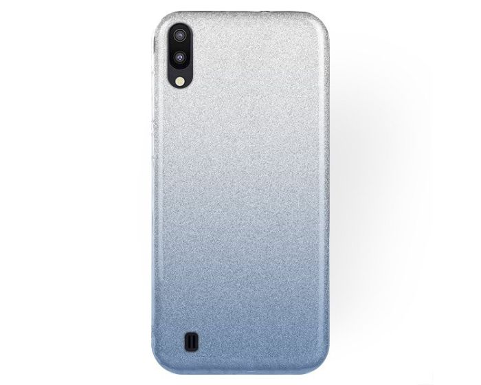 Forcell Glitter Shine Cover Hard Case Clear / Blue (Samsung Galaxy M10)