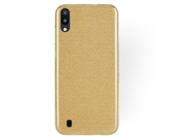 Forcell Glitter Shine Cover Hard Case Gold (Samsung Galaxy M10)