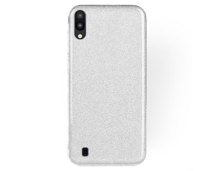 Forcell Glitter Shine Cover Hard Case Silver (Samsung Galaxy M10)
