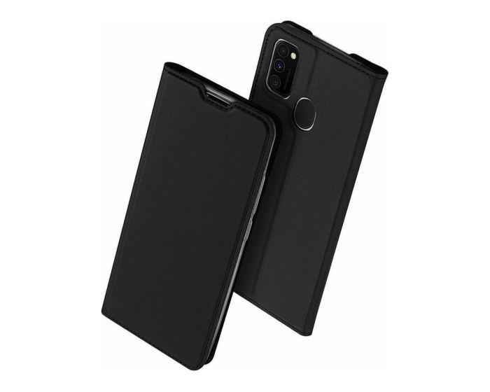 DUX DUCIS SkinPro Wallet Case Θήκη Πορτοφόλι με Stand - Black (Samsung Galaxy M21 / M30s)