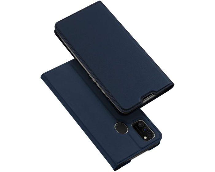 DUX DUCIS SkinPro Wallet Case Θήκη Πορτοφόλι με Stand - Navy Blue (Samsung Galaxy M21 / M30s)