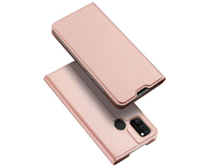DUX DUCIS SkinPro Wallet Case Θήκη Πορτοφόλι με Stand - Rose Gold (Samsung Galaxy M21 / M30s)
