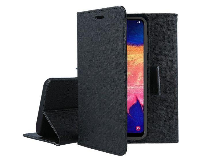 Tel1 Fancy Diary Case Θήκη Πορτοφόλι με δυνατότητα Stand Black (Samsung Galaxy M21 / M30s)