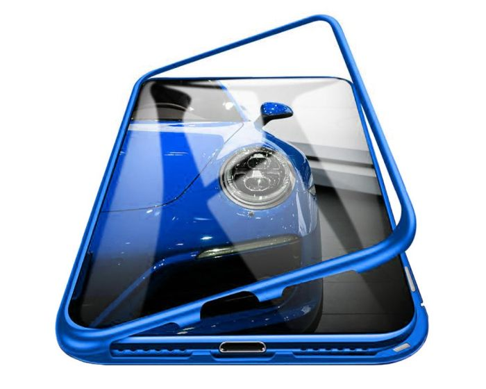 Magneto Bumper Case - Μαγνητική Θήκη Clear / Blue (Samsung Galaxy Note 10 Lite)