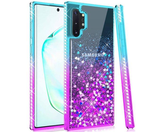 Diamond Liquid Glitter TPU Case Θήκη με Χρυσόσκονη Blue / Purple (Samsung Galaxy Note 10 Lite)