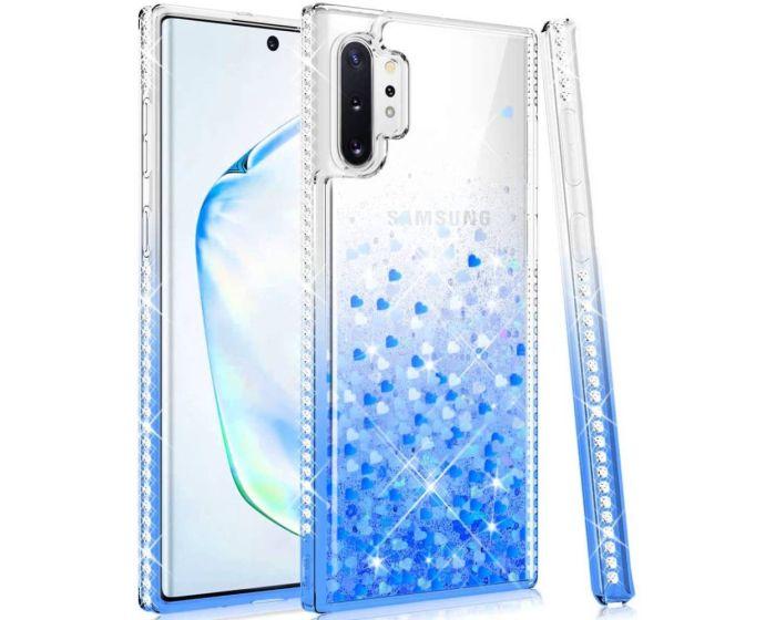 Diamond Liquid Glitter TPU Case Θήκη με Χρυσόσκονη Clear / Blue (Samsung Galaxy Note 10 Lite)
