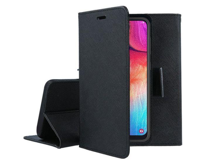 Tel1 Fancy Diary Case Θήκη Πορτοφόλι με δυνατότητα Stand Black (Samsung Galaxy Note 10 Lite)