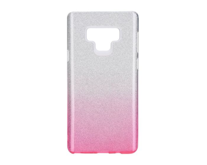 Forcell Glitter Shine Cover Hard Case Clear / Pink (Samsung Galaxy Note 9)