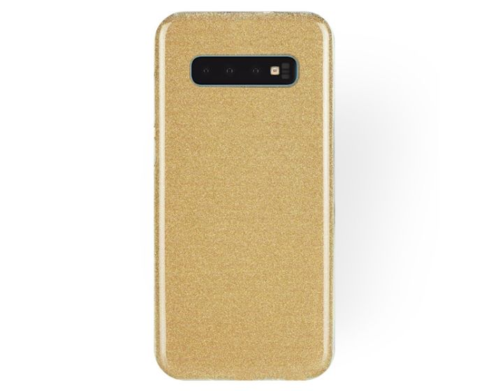 Forcell Glitter Shine Cover Hard Case Gold (Samsung Galaxy S10)
