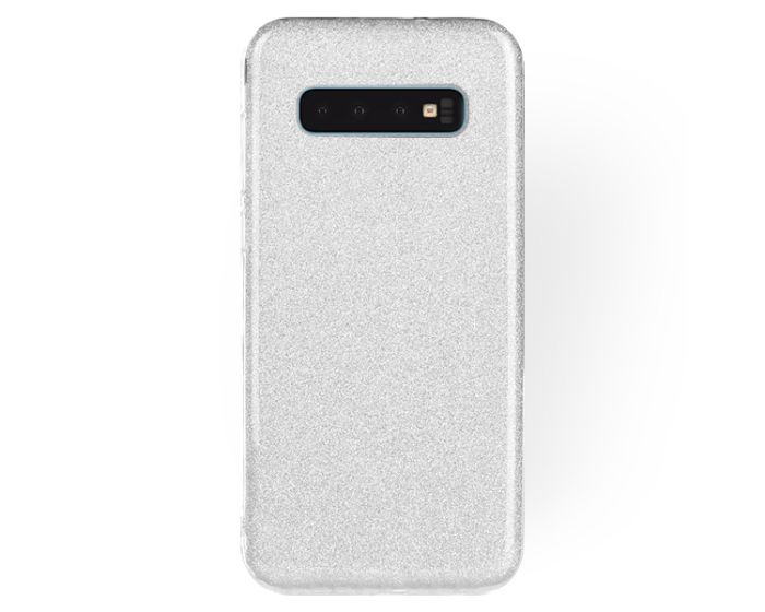 Forcell Glitter Shine Cover Hard Case Silver (Samsung Galaxy S10)