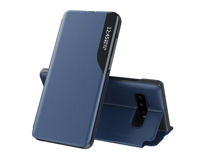 Eco Leather View Case Θήκη Πορτοφόλι με Stand - Blue (Samsung Galaxy S10 Plus)