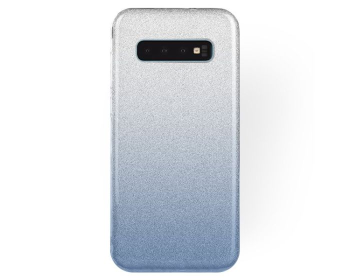Forcell Glitter Shine Cover Hard Case Clear / Blue (Samsung Galaxy S10 Plus)