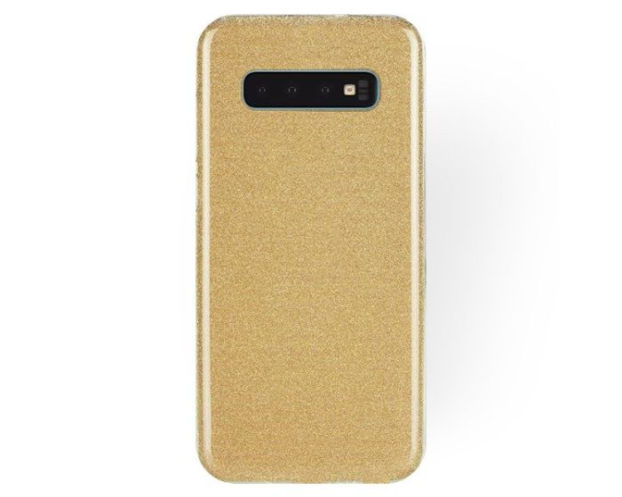 Forcell Glitter Shine Cover Hard Case Gold (Samsung Galaxy S10 Plus)
