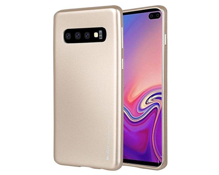 Mercury i-Jelly Slim Fit Case Θήκη Σιλικόνης Gold (Samsung Galaxy S10 Plus)