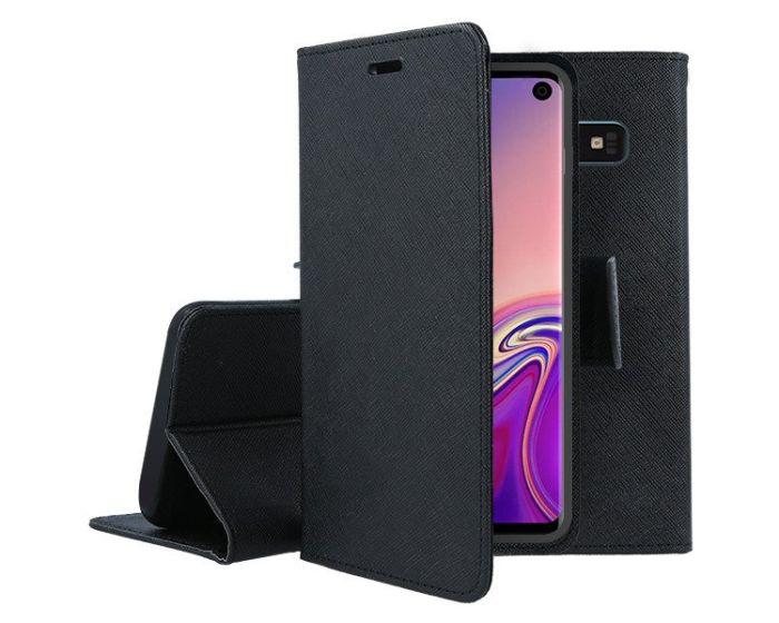 Tel1 Fancy Diary Case Θήκη Πορτοφόλι με δυνατότητα Stand Black (Samsung Galaxy S10)