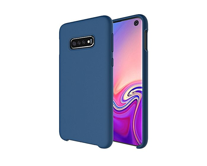 Forcell Ultra Thin Liquid Silicone Case Blue (Samsung Galaxy S10)