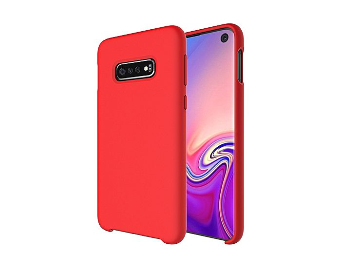 Forcell Ultra Thin Liquid Silicone Case Red (Samsung Galaxy S10)