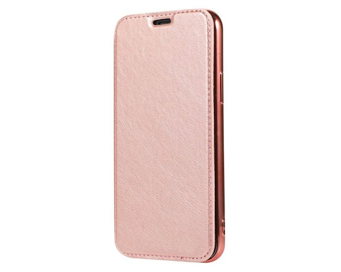 Forcell Electro Wallet Case Θήκη Πορτοφόλι με Stand Rose Gold (Samsung Galaxy S20 Plus)