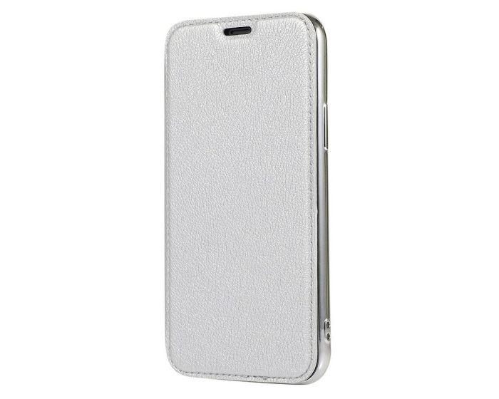 Forcell Electro Wallet Case Θήκη Πορτοφόλι με Stand Silver (Samsung Galaxy S20 Plus)