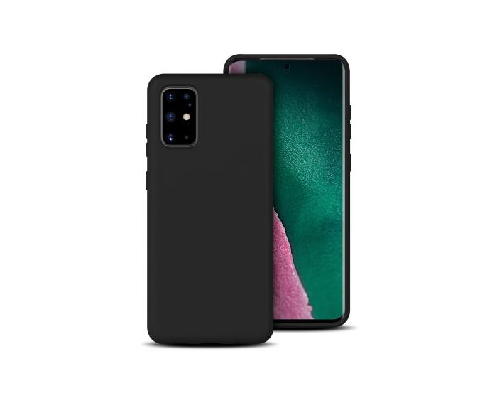 Forcell Ultra Thin Liquid Silicone Case Black (Samsung Galaxy S20 Plus)