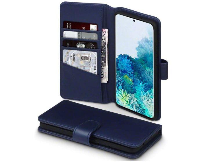 Terrapin Δερμάτινη Θήκη Πορτοφόλι Wallet Case (117-002a-239) Μπλε (Samsung Galaxy S20 Plus)