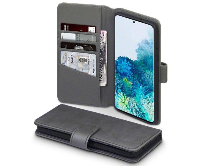 Terrapin Δερμάτινη Θήκη Πορτοφόλι Wallet Case (117-002a-237) Γκρι (Samsung Galaxy S20 Plus)
