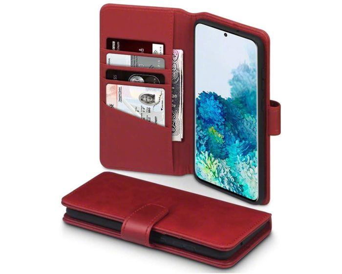 Terrapin Δερμάτινη Θήκη Πορτοφόλι Wallet Case (117-002a-238) Κόκκινο (Samsung Galaxy S20 Plus)