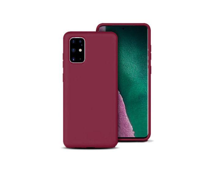 Θήκη Σιλικόνης Slim Fit Liquid Silicone Case Burgundy (Samsung Galaxy S20 Plus)