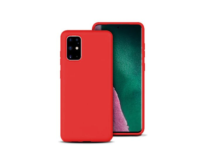 Forcell Ultra Thin Liquid Silicone Case Red (Samsung Galaxy S20 Plus)
