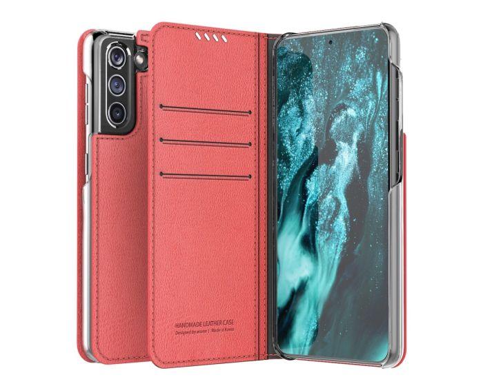 Araree Mustang Diary Book Θήκη Πορτοφόλι - Tangerin Red (Samsung Galaxy S21 Plus 5G)
