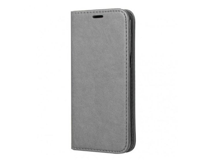 Forcell Magnet Wallet Case Θήκη Πορτοφόλι με δυνατότητα Stand Silver (Samsung Galaxy S8 Plus)