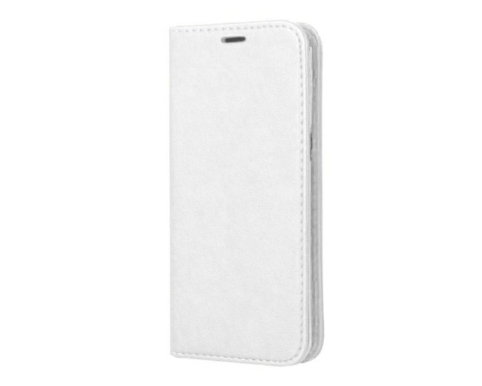 Forcell Magnet Wallet Case Θήκη Πορτοφόλι με δυνατότητα Stand White (Samsung Galaxy S8 Plus)