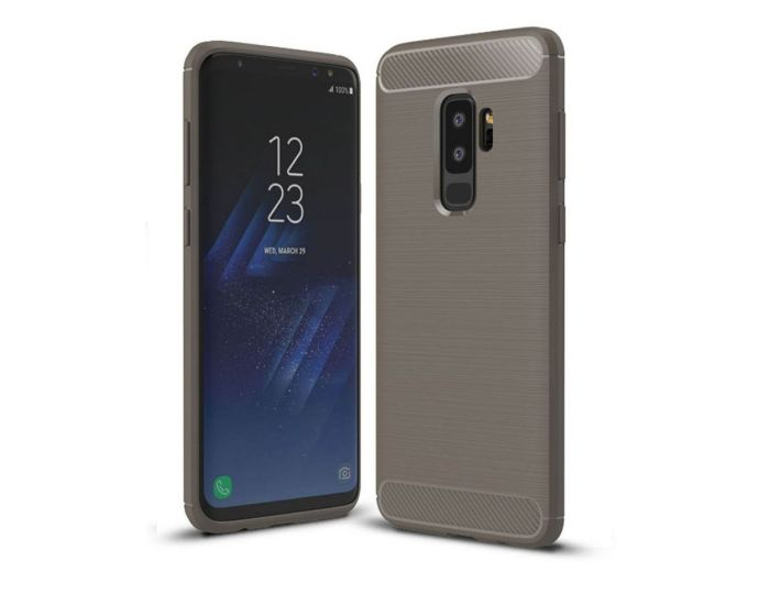 TPU Carbon Rugged Armor Case - Gray (Samsung Galaxy S9 Plus)