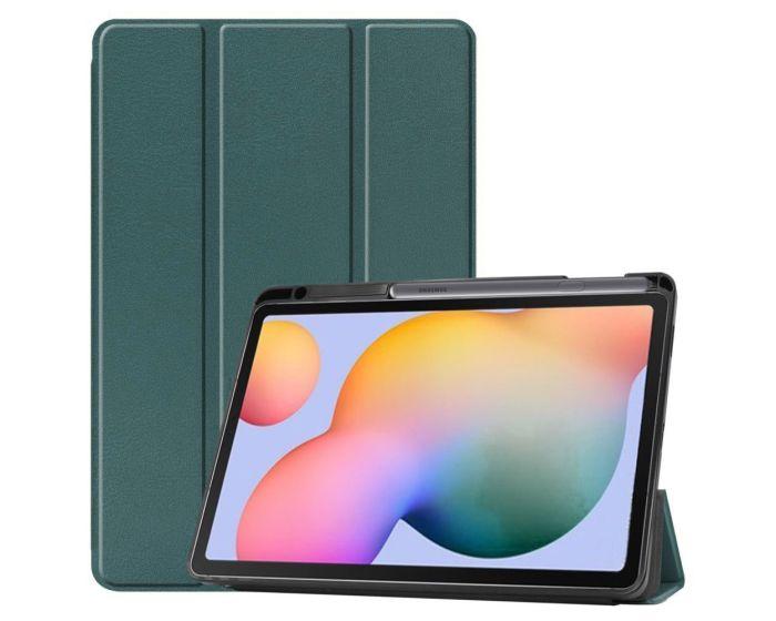 Tri-Fold Book Case Pen Holder με δυνατότητα Stand - Blue (Samsung Galaxy Tab S6 Lite 10.4)