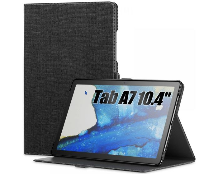 Infiland Classic Book Case Θήκη με Δυνατότητα Stand - Black (Samsung Galaxy Tab A7 10.4)