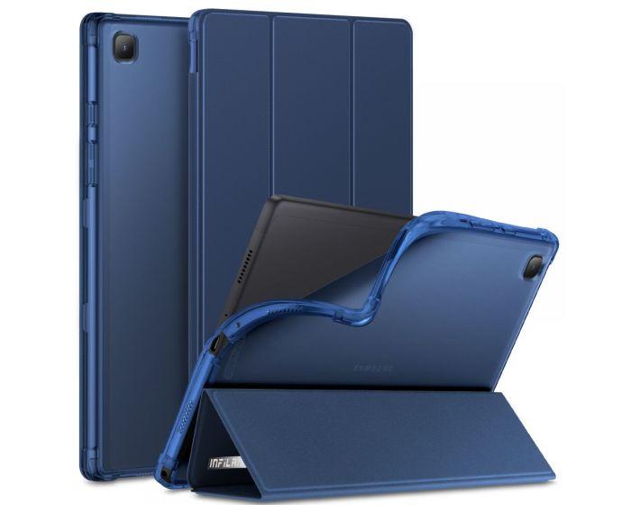 Infiland Smart Book Case Θήκη με Δυνατότητα Stand - Blue (Samsung Galaxy Tab A7 10.4)