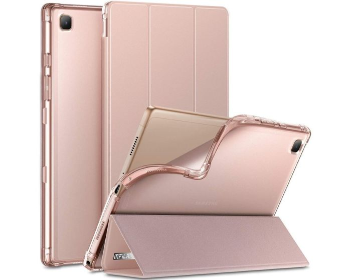 Infiland Smart Book Case Θήκη με Δυνατότητα Stand - Pink (Samsung Galaxy Tab A7 10.4)