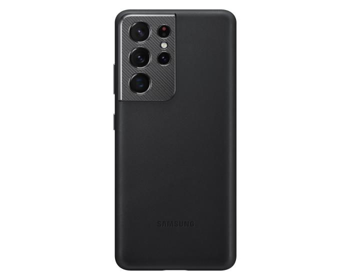 Samsung Official Leather Cover (EF-VG998LBEGWW) Δερμάτινη Θήκη Black (Samsung Galaxy S21 Ultra 5G)