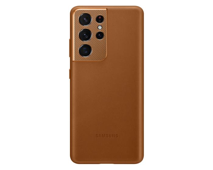 Samsung Official Leather Cover (EF-VG998LAEGWW) Δερμάτινη Θήκη Brown (Samsung Galaxy S21 Ultra 5G)