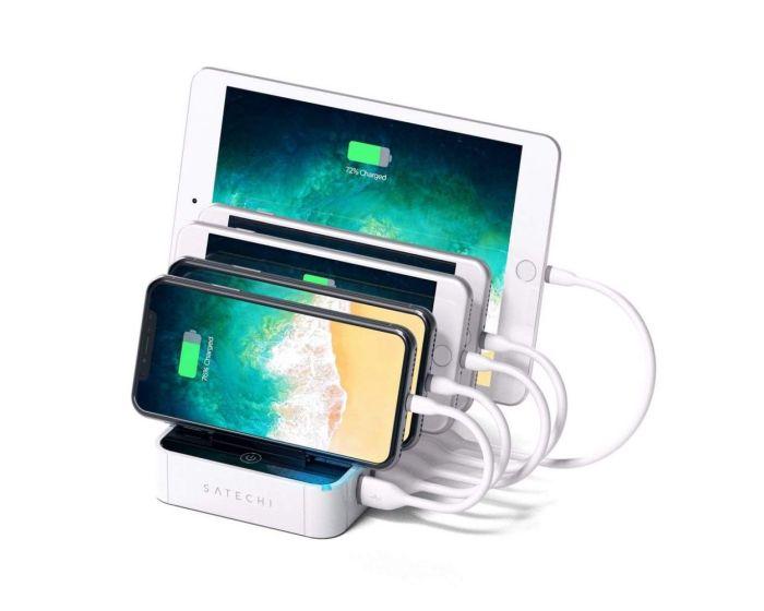 SATECHI 5-Port USB Charging Station Dock 2.4A Βάση Φόρτισης - White