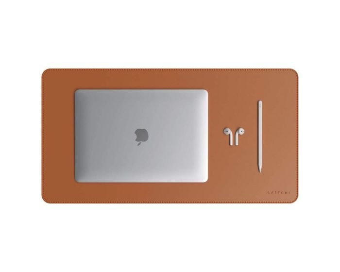 SATECHI DeskMate Eco Leather Mouse Pad - Brown