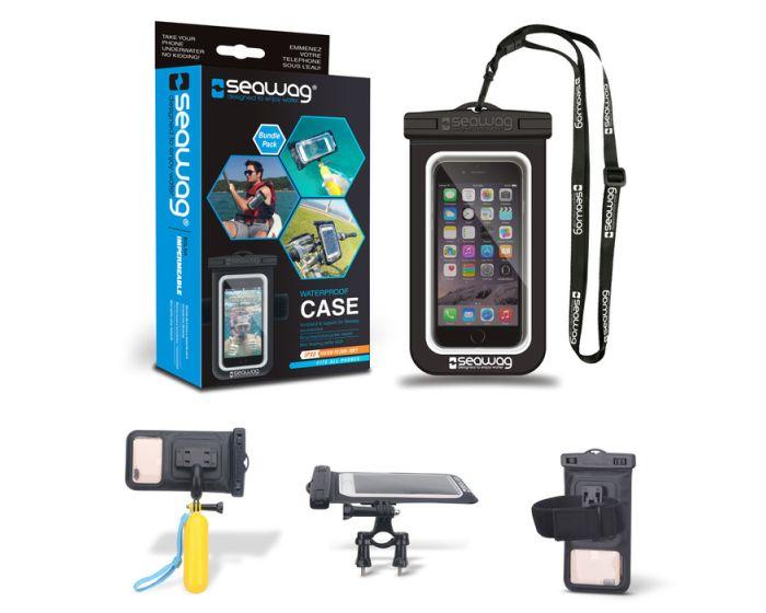 Seawag IPX8 Universal Αδιάβροχη Θήκη για Smartphones έως 5.7'' - Bundle Pack