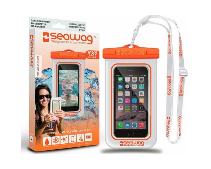 Seawag IPX8 Universal Αδιάβροχη Θήκη για Smartphones έως 5.7'' - White / Orange