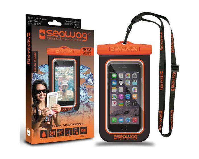 Seawag IPX8 Universal Αδιάβροχη Θήκη για Smartphones έως 5.7'' - Black / Orange