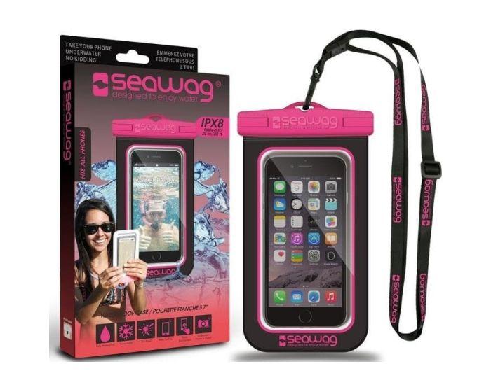 Seawag IPX8 Universal Αδιάβροχη Θήκη για Smartphones έως 5.7'' - Black / Pink